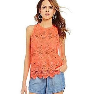 Gianni Bini Coral Orange Tank Top
